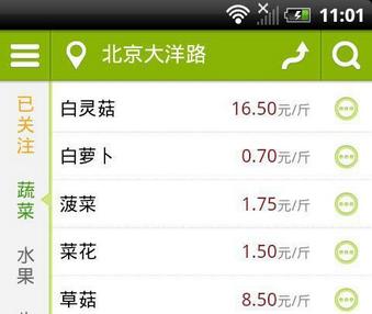 蔬菜价格app开发用途浅析